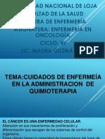 Clase 3 Cuidados en La Administracion de Quimioterapia