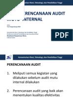 Teori Perencanaan Audit Mutu Internal