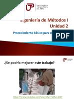 Ingeniería de Métodos I - Semana 5 - Sesión 1-Procedimiento Básico Para El Estudio de Métodos