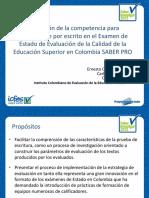 Ernesto Cuchimaque-Carlos Ordonez-Carlos Pardo - Evaluacion de competencia para comunicarse por escrito en el examen Saber Pro.pdf