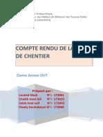 Compte Rendu Visite Chentier