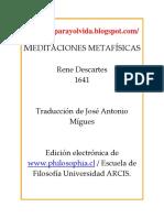 Rene Descartes - Meditaciones Metafisicas.pdf