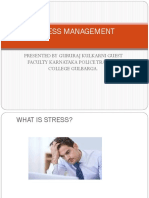 Stress Management Presented by Gururaj
