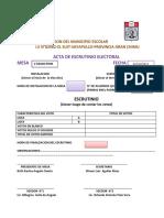 Acta Electoral Karina