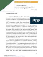 Identidad es Organización. El proceso histórico de reconstrucción de la identidad indígena Kolla en la Provincia de Salta. Argentina.  Raúl Javier Yudi 2014.