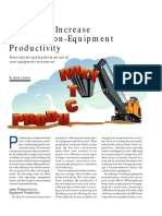 Six Ways to Increase Construction-Equipment Productivity