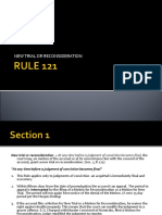 RULE 121 Report Criminal Procedure