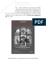 Under Swiss Protection - Jewish Eyewitness Accounts From Wartime Budapest