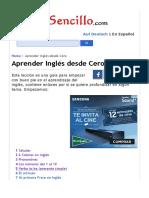 Aprender Inglés desde Cero-4