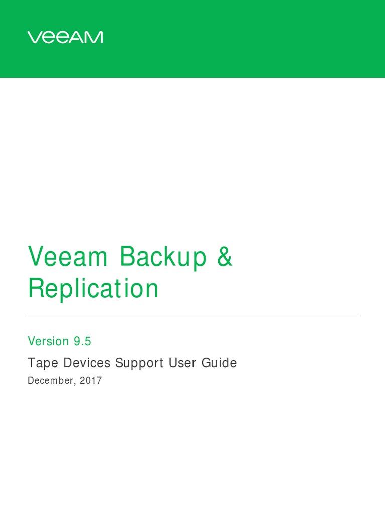 Veeam Backup 9 5 Tapes User Guide | Backup | Replication
