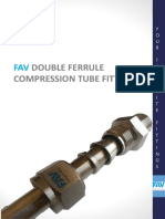 FAV Double Ferrule Compression Tube Fittings