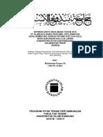 contoh cover skripsi tambang unisba