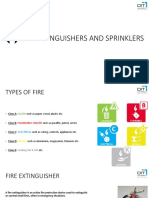 Fire Extinguishers and Sprinklers
