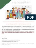 Supuesto Práctico Educación Infantil Comunidad Valenciana 2016