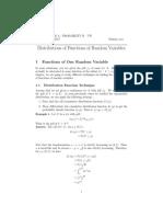 UW MATH STAT395 Functions Random Variables