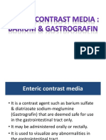 Enteric Contrast Media