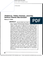 Violence, Video Games and Serious Video Game Movement