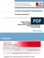 Verification of Antimicrobial Susceptibility Testing