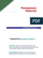 Manajemen Material Persediaan