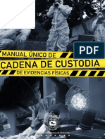 Manual Único de Cadena de Custodia de Evidencias (29sep17)