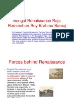Bengal Renaissance Raja Ramomuhan Roy Brahma Samaj