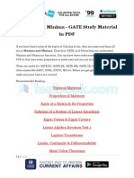 Maxima and Minima - GATE Study Material in PDF