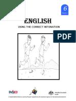 English 6 DLP 3 Using the Correct Intonation