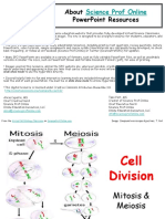 Cell Division Mitosis Meiosis Biology Lecture