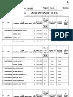 Subject Schedule 2017