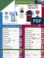 Premier League 180113 round 23 Huddersfield - West Ham 1-4
