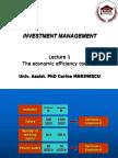 1 the Economic Efficiency Concept
