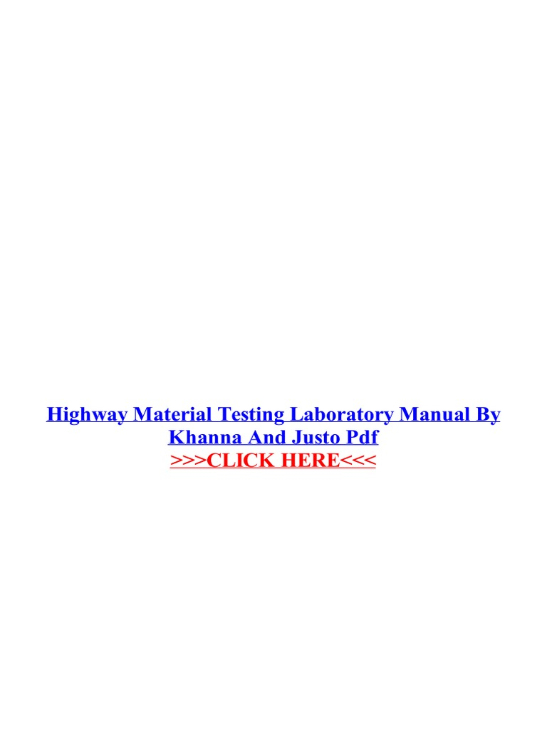 Highway material testing laboratory manual by khanna and justo pdf highway material testing laboratory manual by khanna and justo pdf road surface laboratories fandeluxe Image collections