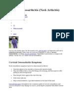 Cervical Osteoarthritis.doc