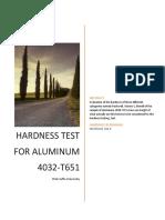 Report Hardness Lab (Aluminum)