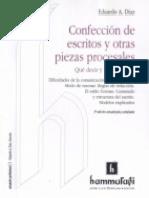 Confeccion de Escritos y Otras Piezas Procesales. 2º Edicion. Eduardo Diaz