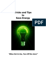 Tips Tricks to Save Energy