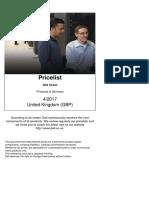 United Kingdom English Client Pricelist April 2017