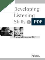 Developing Listening Skills 1_Script,Answer Key