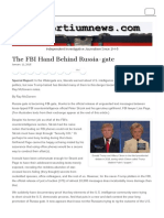 The FBI Hand Behind Russia-gate