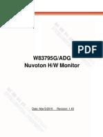 Nuvoton W83795G W83795ADG Datasheet V1.43