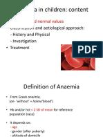11. Anaemia in Children