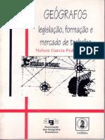 Geógrafos - Legislação, Formação e Mercado de Trabalho.1996