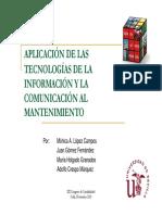 Aplicacion de Las Tecnologias de La Informacion y Comunicacion Al Mantenimiento.2010