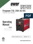 Firepower Tig 200 Acdc Inverter Arc Welder 0-5370_ac