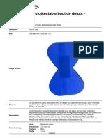 Pansement Bleu Detectable Bout de Doigts