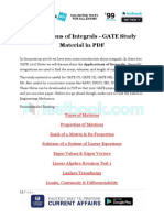 Applications of Integrals - GATE Study Material in PDF