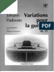 PADOVETZ J._variations Pour La Guitare Op. 25_Ed. VF