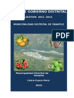 Plan de Gobierno Municipal