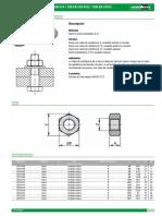 07210 Datasheet 4099 Tuercas Hexagonales DIN 934 DIN en ISO 4032 DIN en 24032--Es