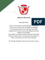 Bedan Prayer